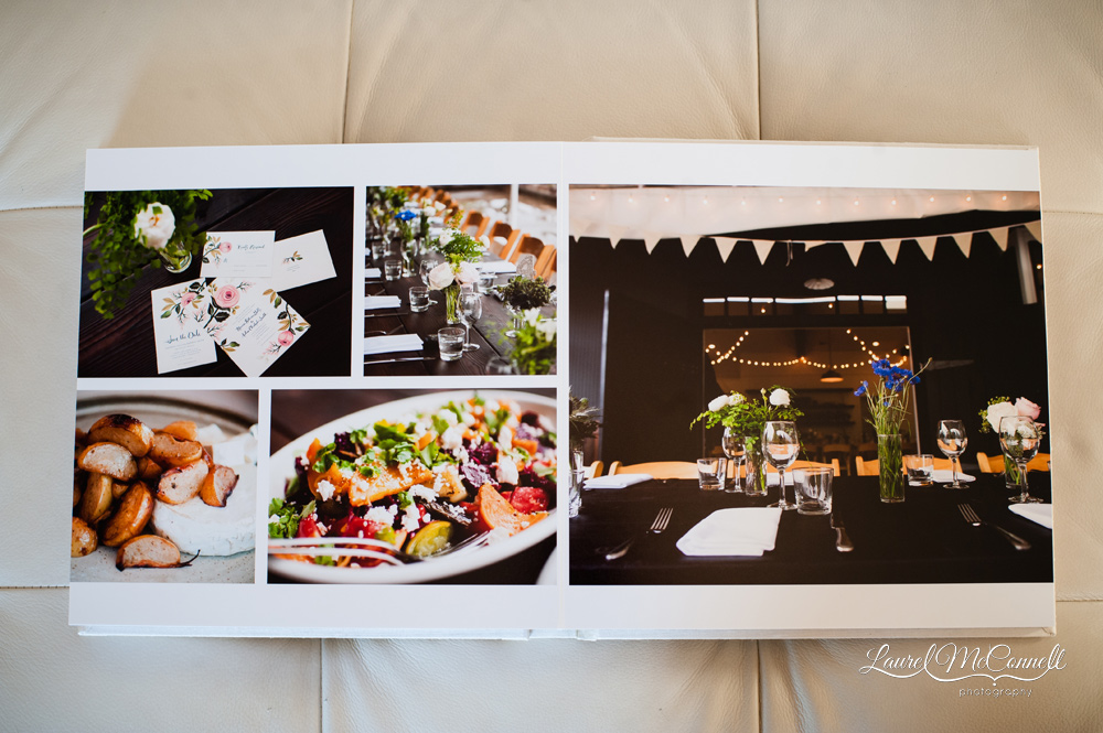 Wedding album of catering by The Corson Building at Vashon Island's Old Chaser Farm.