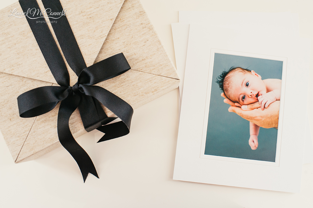 Unique newborn photography products offered by Laurel McConnell Photography.