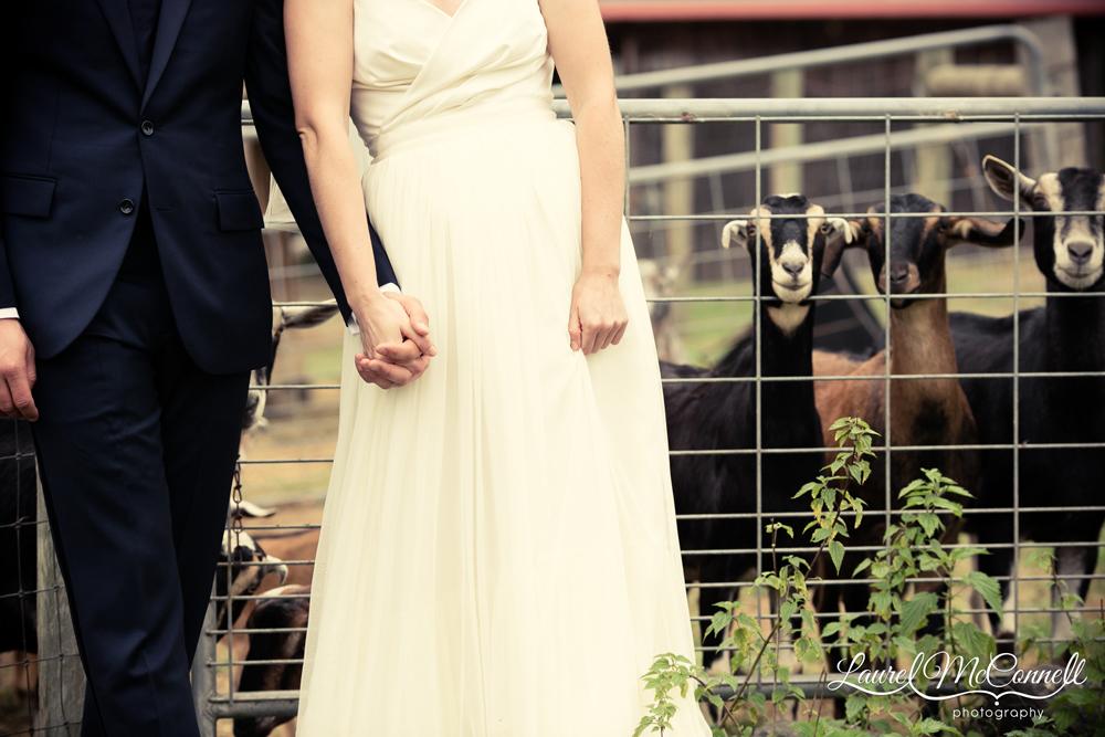 Fun wedding photography Vashon Island Laurel McConnell.