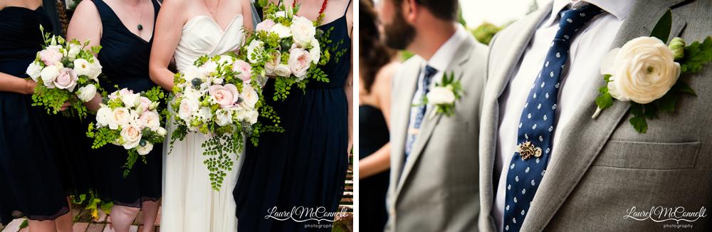 Ravenna Bloom bouquets and boutonniere Vashon wedding.