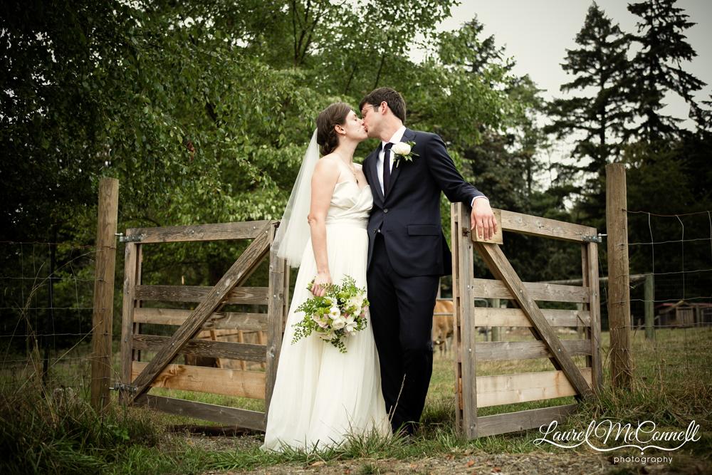Sweet wedding portrait Seattle Vashon Island.