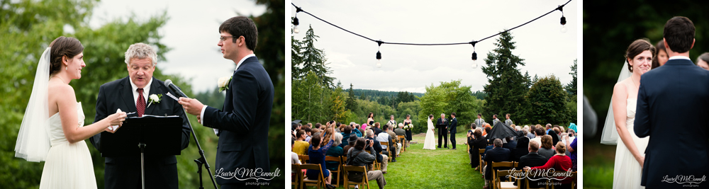 Personal timeless wedding ceremony Old Chaser Farm.