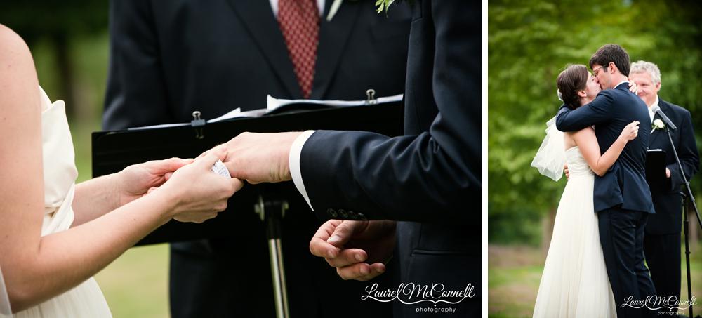 Pacific Northwest island wedding ceremony.