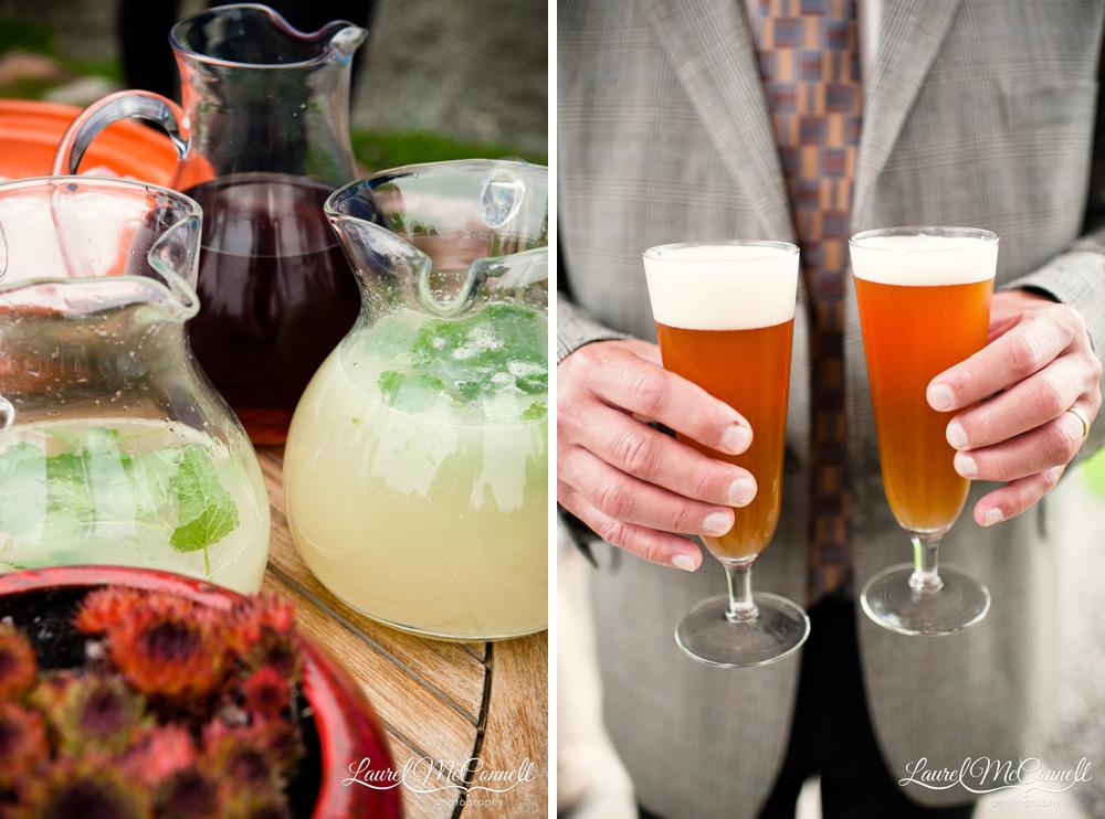 Custom farmhouse wedding cocktails.