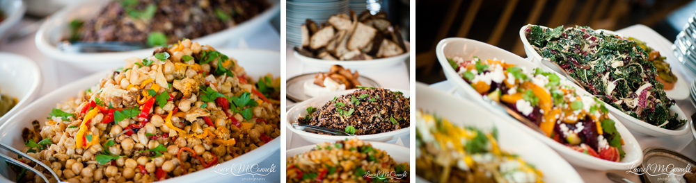 Vegetarian farm-to-table wedding food by The Corson Building Catering.