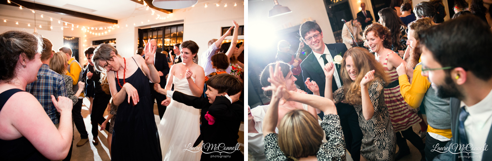 Fun wedding reception photography by Laurel McConnell.