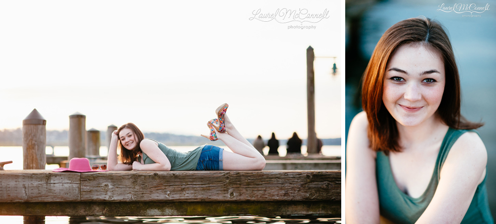 Adorable senior portrait photography session in Seattle