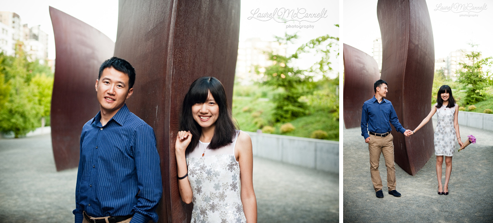 Lovely engagement session at Seattle's Olympic Sculpture Park.