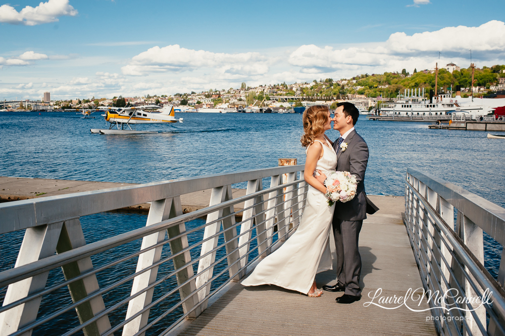 South Lake Union wedding portraits in Seattle, Washingon by Laurel McConnell Photography.