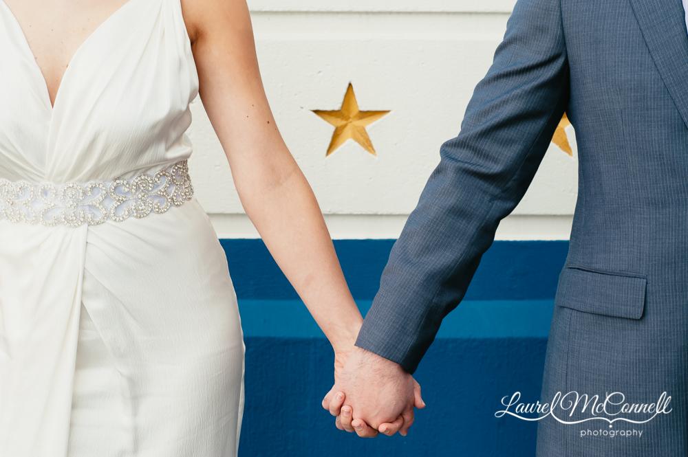 Nautical theme wedding portrait ideas in Seattle, Washington.