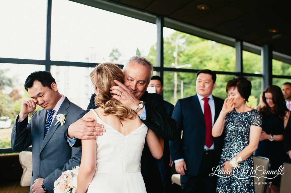 Sweet, intimate wedding moments captured by Laurel McConnell Photography.