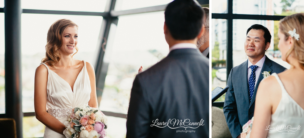 Small, classy wedding at Canlis in Seattle, Washington.
