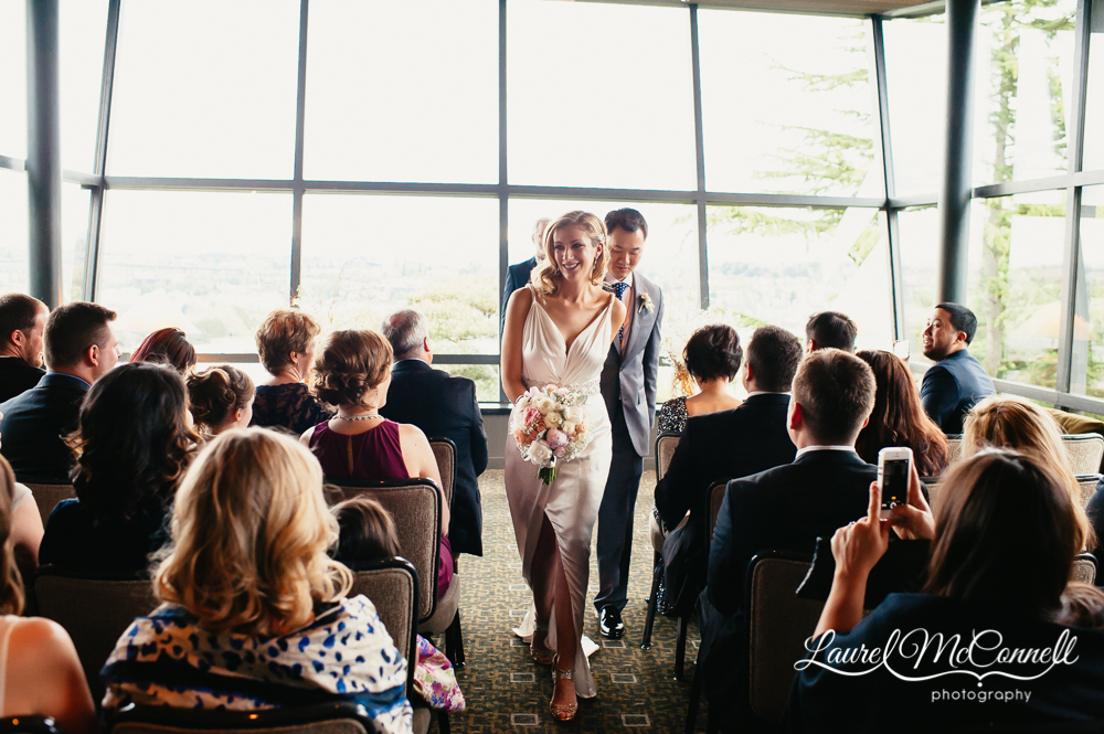 Modern, graphic wedding venues in Seattle, Washington.