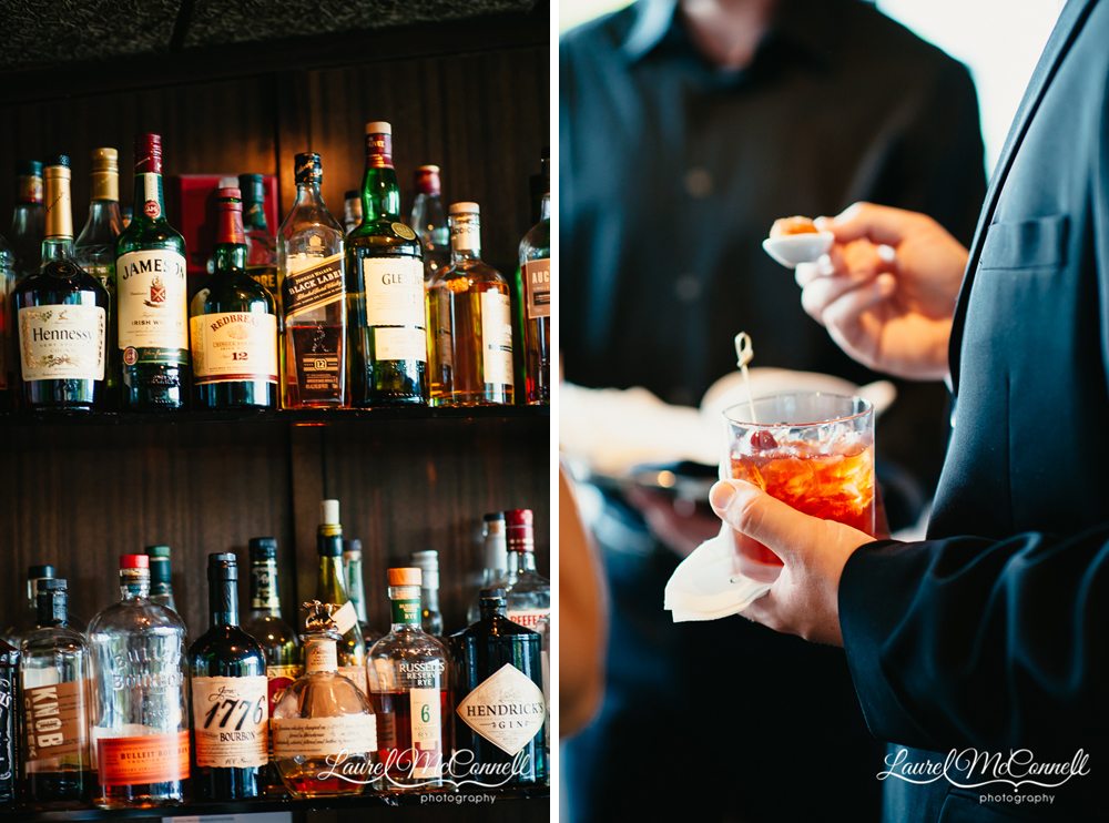Graphic, gorgeous signature wedding cocktails.