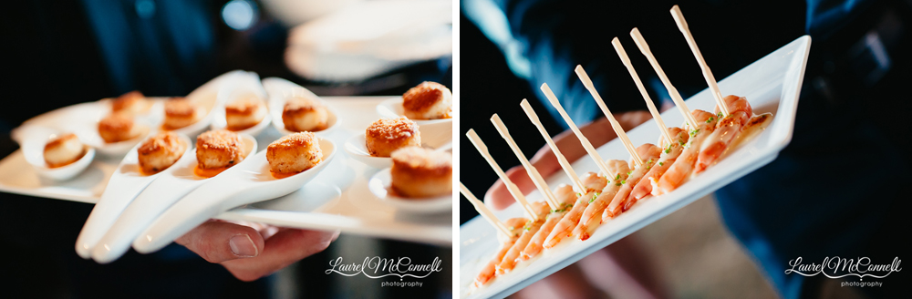 Delicious appetizers at Canlis wedding.