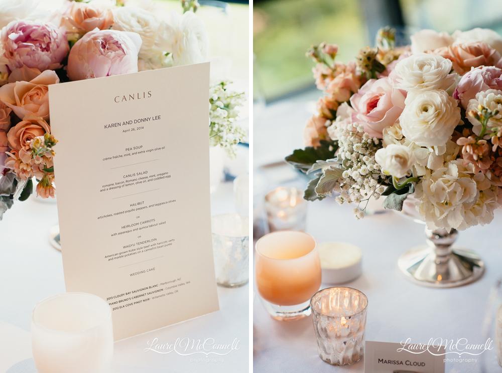 Floressence wedding floral design peony, rose, hydrangea centerpieces.
