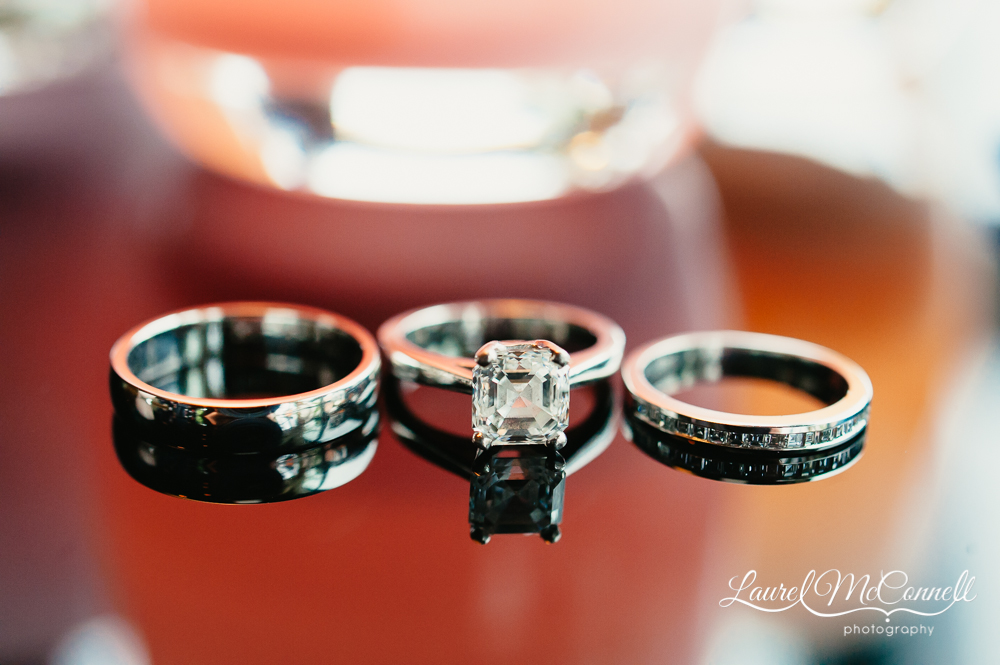 Engraved wedding bands by Robbins Brothers Jewelers.