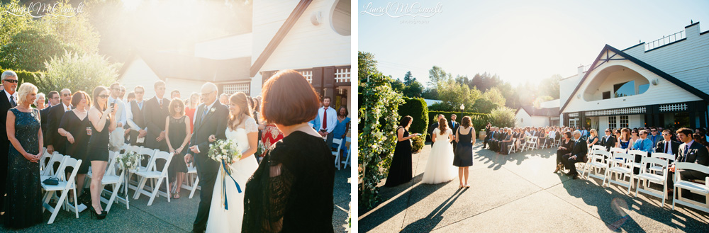 Navy blue, sage, and white Columbia Winery wedding near Seattle, Washingtonwedding coordinated by Holly-Kate and Company, photographed by Laurel McConnell Photography.