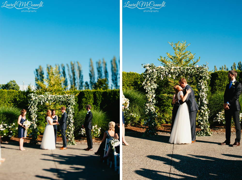 Sunny summer Columbia Winery wedding coordinated by Holly-Kate & Company, photographed by Laurel McConnell Photography.