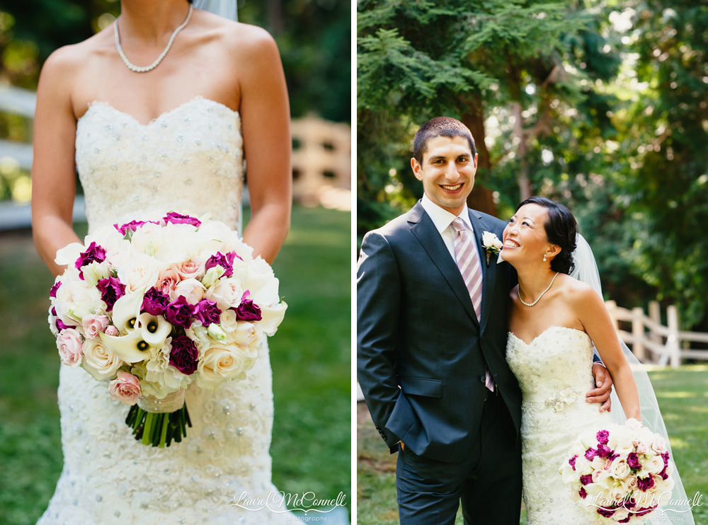 Classic, traditional bridal bouquet created by Flora Nova photographed by Laurel McConnell Photography in Seattle.