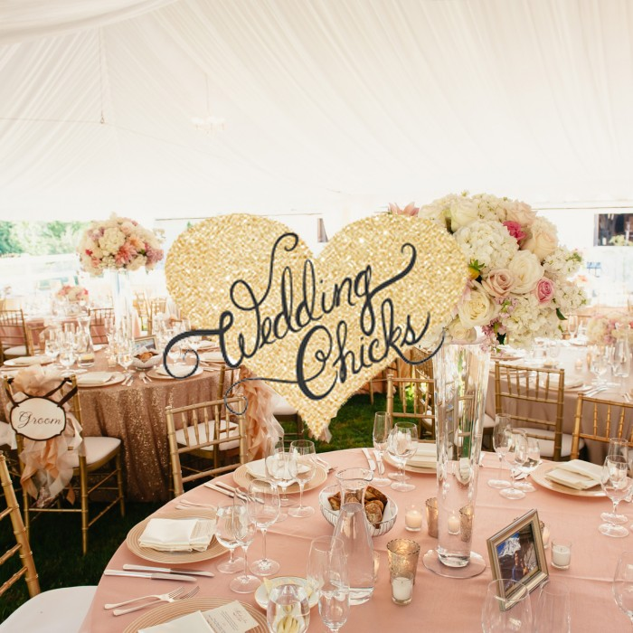 Sparkly Winery Wedding featured on Wedding Chicks!