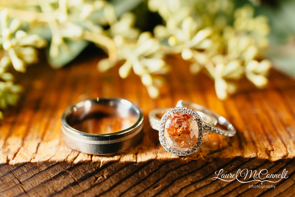 One-of-a-kind, non-traditional stone engagement ring created at Twist in Seattle photographed by Laurel McConnell Photography.