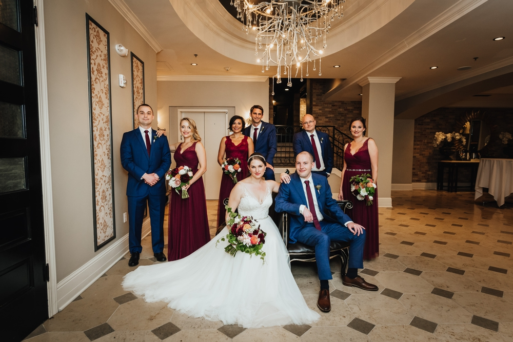 bridal_party_under_chandelier