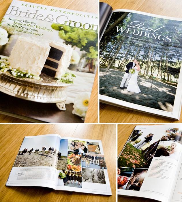 4 Pages in Seattle Met Bride + Groom!