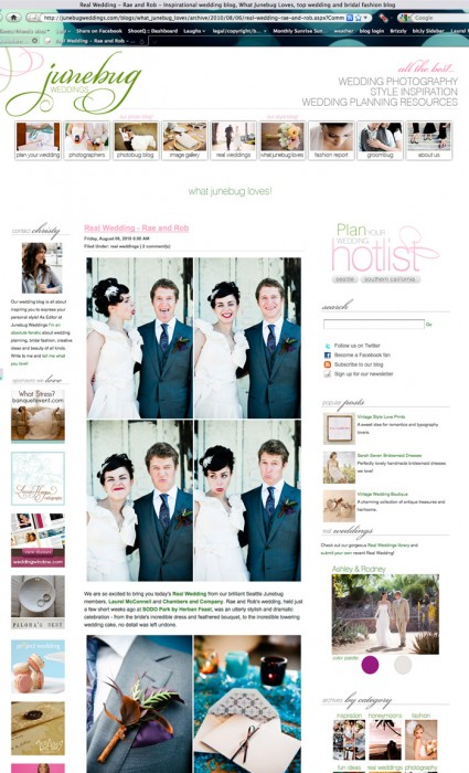 Fabulously Fun Sodo Park Wedding Featured on Junebug Weddings!