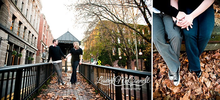 A Fall Engagement Session in Pioneer Square