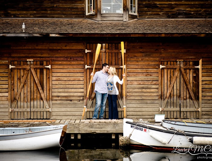 Lindsay + Abe + Ice Cream + Boats = a Super Sweet Engagement Session in Seattle