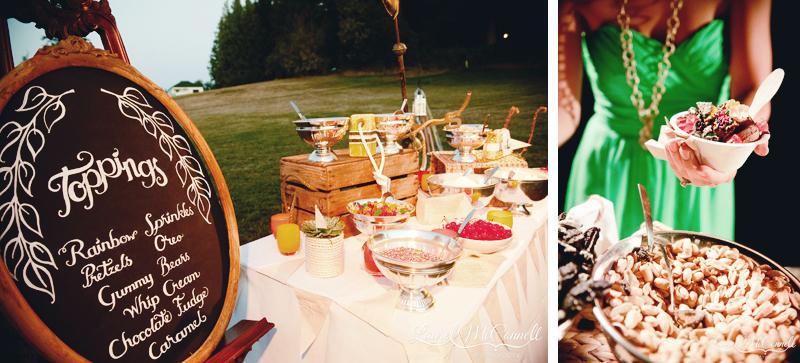 Roche Harbor Wedding Parfait Ice Cream Reception By Laurel Mcconnell