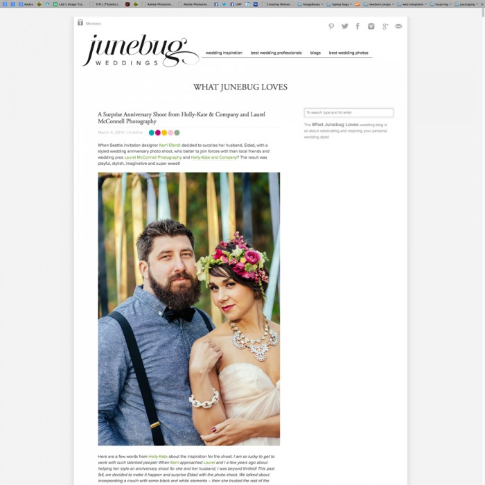 Hear ye, hear ye! :: Junebug Weddings Feature