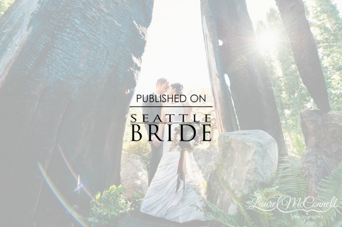 Woodsy Willow's Lodge Wedding Featured on Seattle Bride!!!